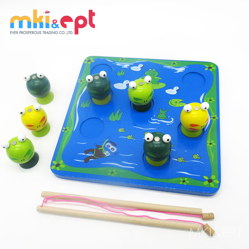 3D Fishing Game Kids Wooden Animal Toys For Sale