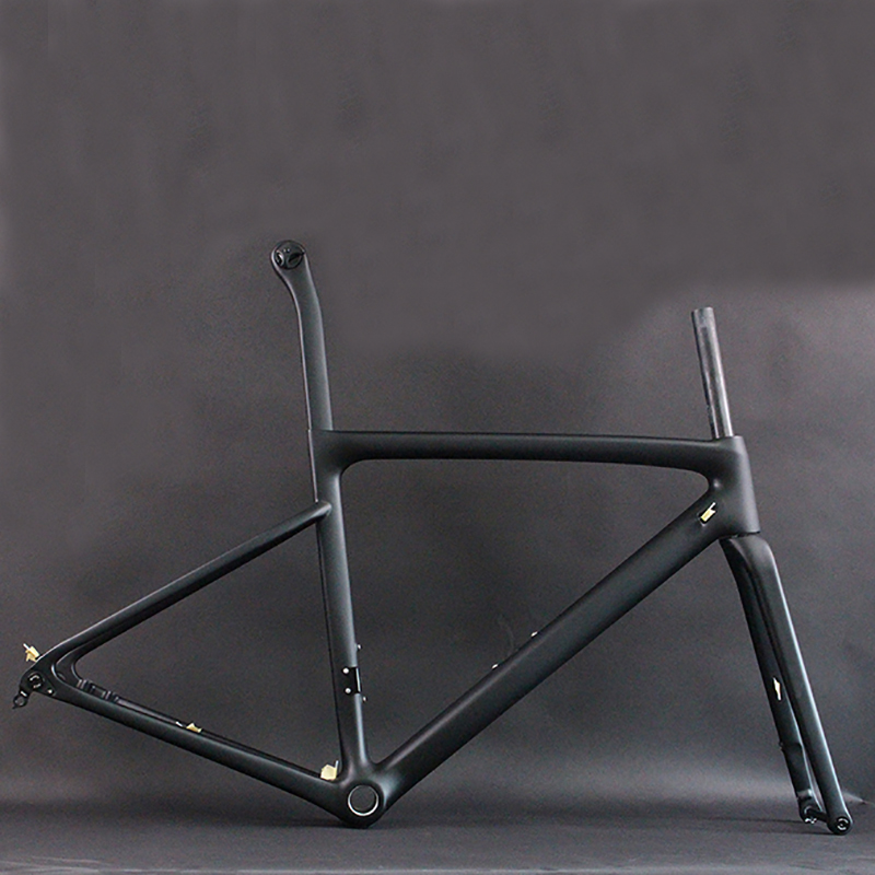 2019 <strong>carbon</strong> racing <strong>frame</strong> T1000 <strong>road</strong> bike frameset disc brake 160mm