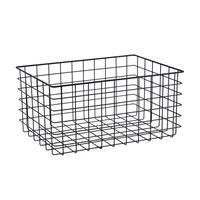 Large size rectangle metal iron kitchen wire display basket for home storage