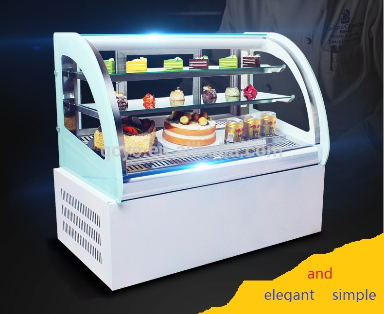 Factory Directly Sale Acrylic Cake Display Cabinet Sweet Display Showcase Refrigerator