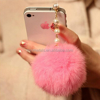 phone dustproof plud, phone accessory, phone ornaments, fur decoration