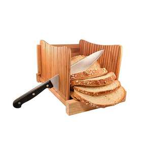 Bamboo Wood Compact Foldable Bread Slicer bread board for homemade bread