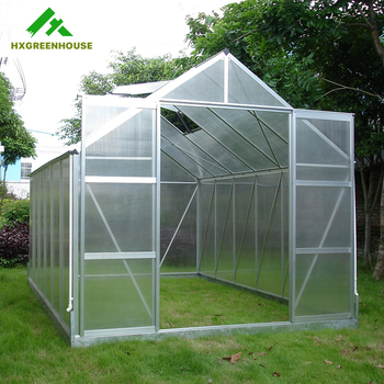 Modern Home Design Garden Aluminium Polycarbonate Greenhouse Grow Tent