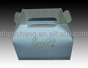 fashionable high quality custom paper cardboard birthday cake box