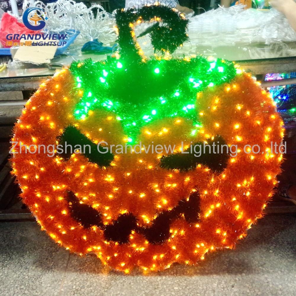 Led Halloween Lights With Christmas Garland Ornament Pumpkin Led ...