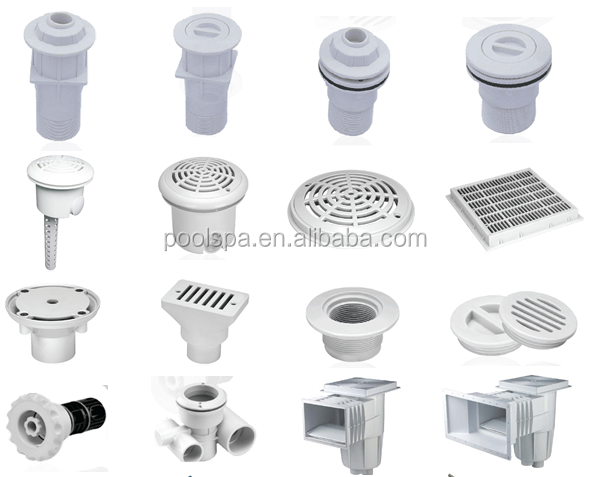 White Goods Skimmers Return Inlets Main Drains Vacuum Fittings Accessories For Swimming Pool
