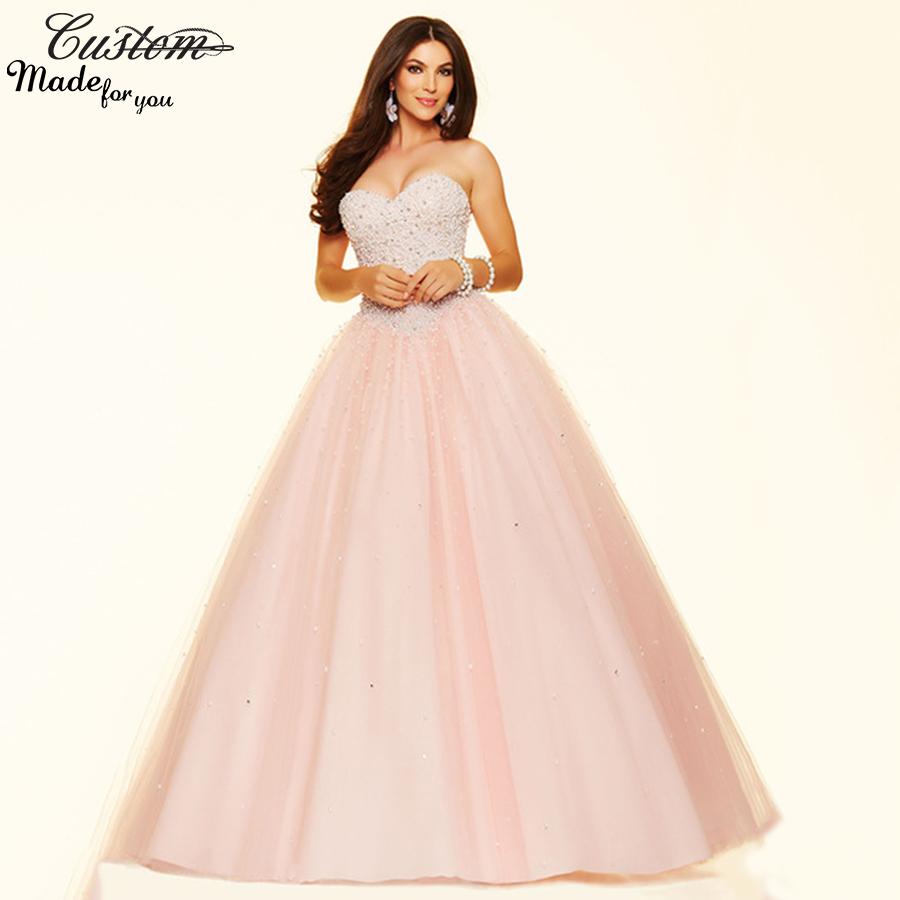 Light Pink Quinc...Light Pink Puffy Quinceanera Dresses