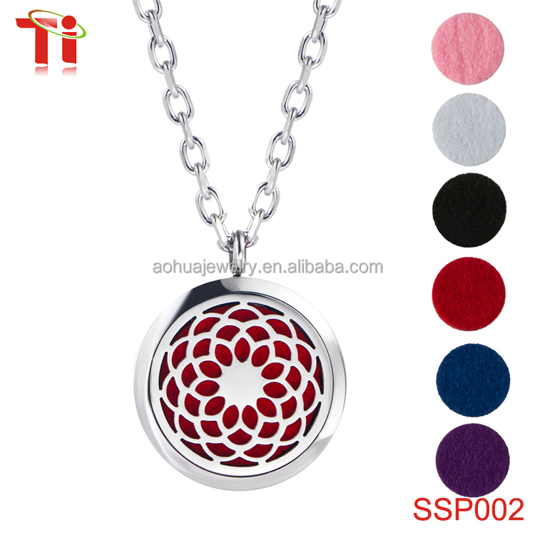 Sunflower Aromatherapy Essential Oil Diffuser Necklace Pendant ...