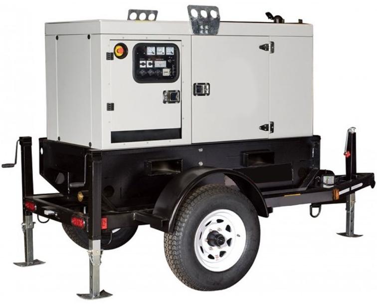 20kw Trailer Mounted Towable Diesel Generator Price