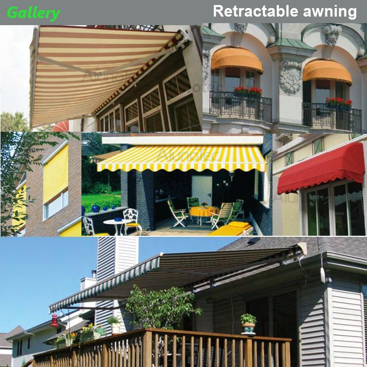 Modern Aluminum Fabric Motorized Retractable Awning - Buy ...