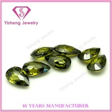 Teardrop Faceted Random Cut Cubic Zirconia Gemstone Factory Wholesale