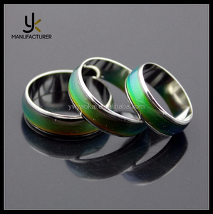 Wholesale Jewelery Mixed Change Color Temperature Emotion Feeling Mood Rings For Women Men