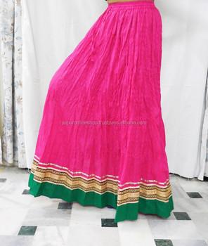 90e8454e31f8 Buy Indian Lovely Pink Color Fabulous Designer Cotton Long Skirt Designer  Lehenga Skirt