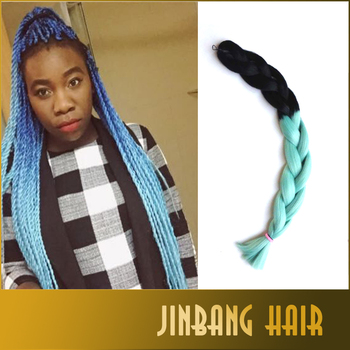 Afro Hair Style Two Tone Color Ultra Braid Hair Synthetic Braiding ...