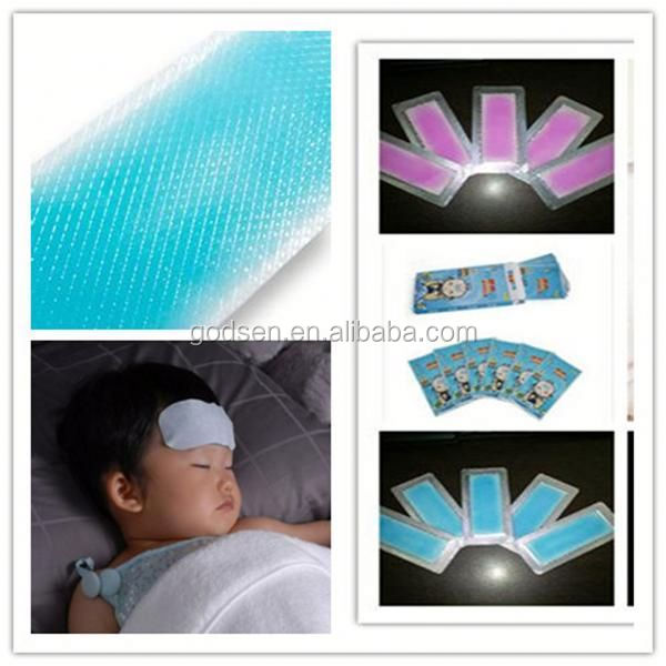 Polymer cooling gel Spring Ice Cooling Patch, baby embroidered patches