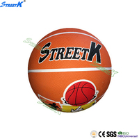 official size colorful polyester cartoon rubber basketball