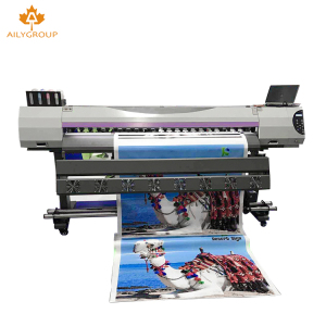 1.6m a4 size small eco solvent printer with take up system