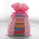Holiday's Gift [ Gift ] Gift Bag Birthday Wholesale Cheap Custom Small Happy Birthday Party Non Woven Gift Bags For Kids