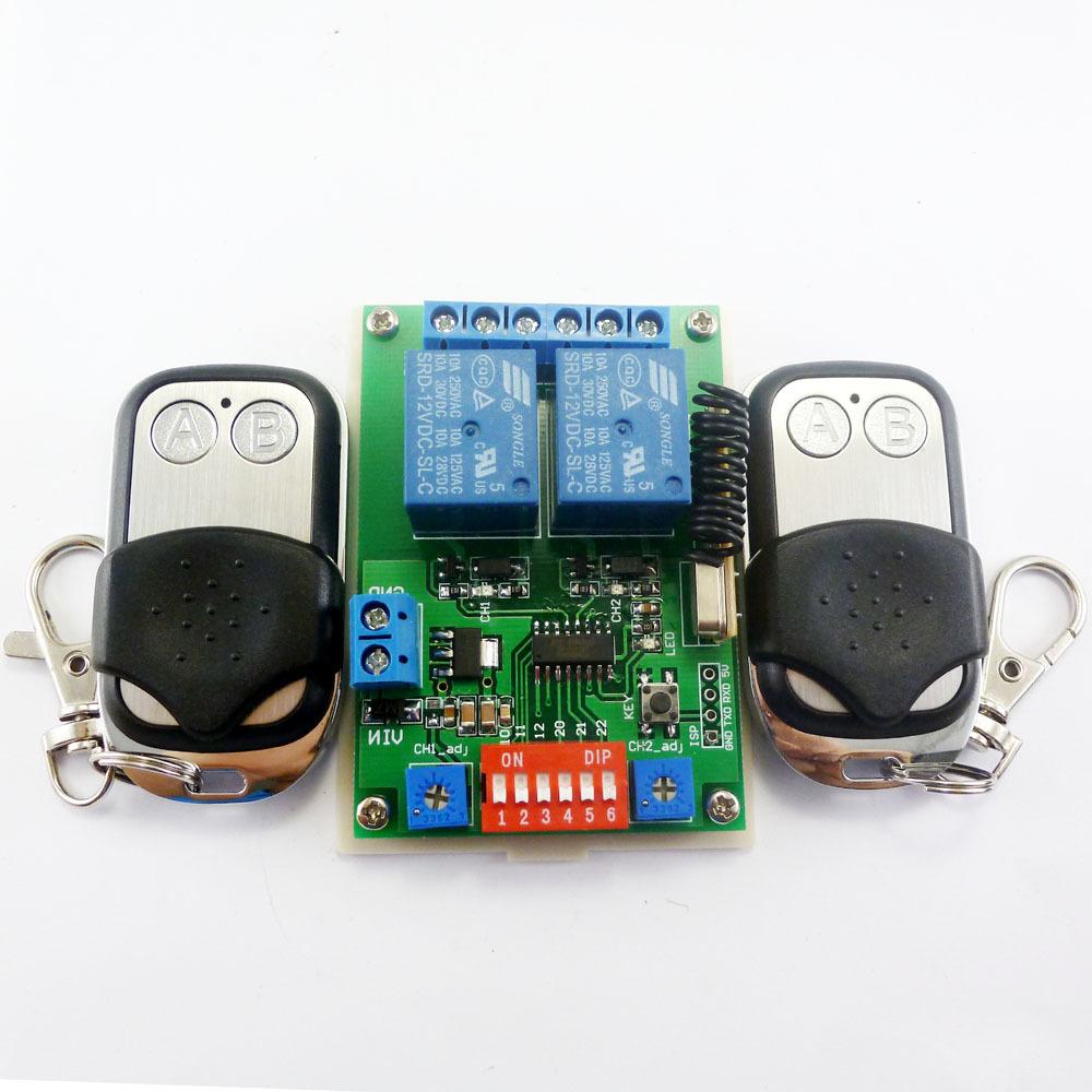 2020 2x EV1527 Keyfob & DC 12V 2Ch RF Timer Delay Relay ...
