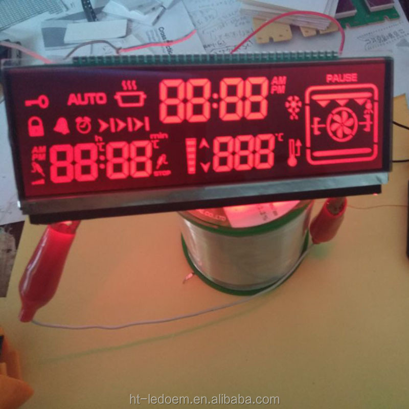 Customized shape customized text programmable <strong>LCD</strong> with led backlight panel