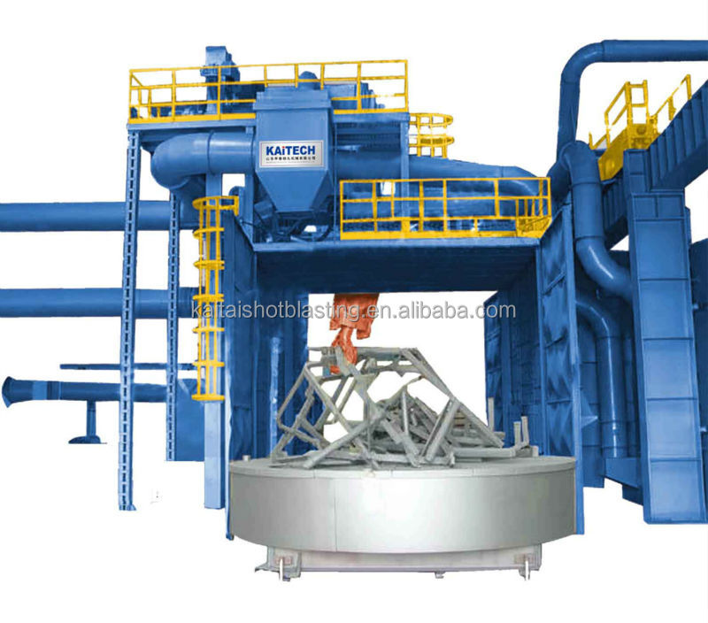 Q36 Trolley Type Shot Blasting Machine with High Coverage Rate of Shot Blasting