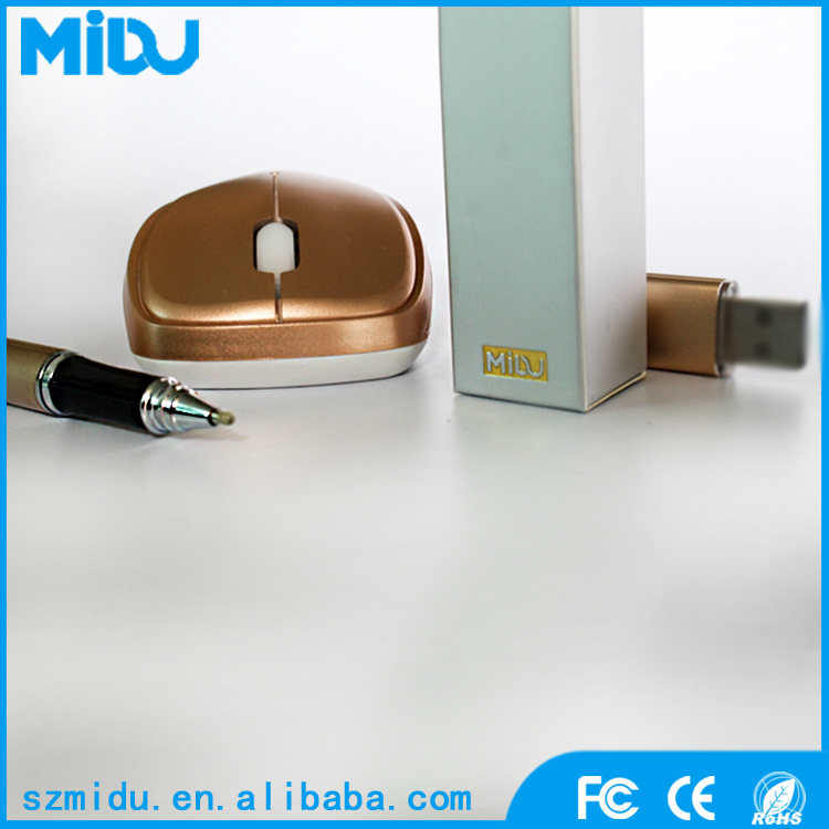 2016 Best Business Luxury Gift Set Mouse +Golden Pen