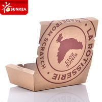 Custom printed takeout hot food container disposable