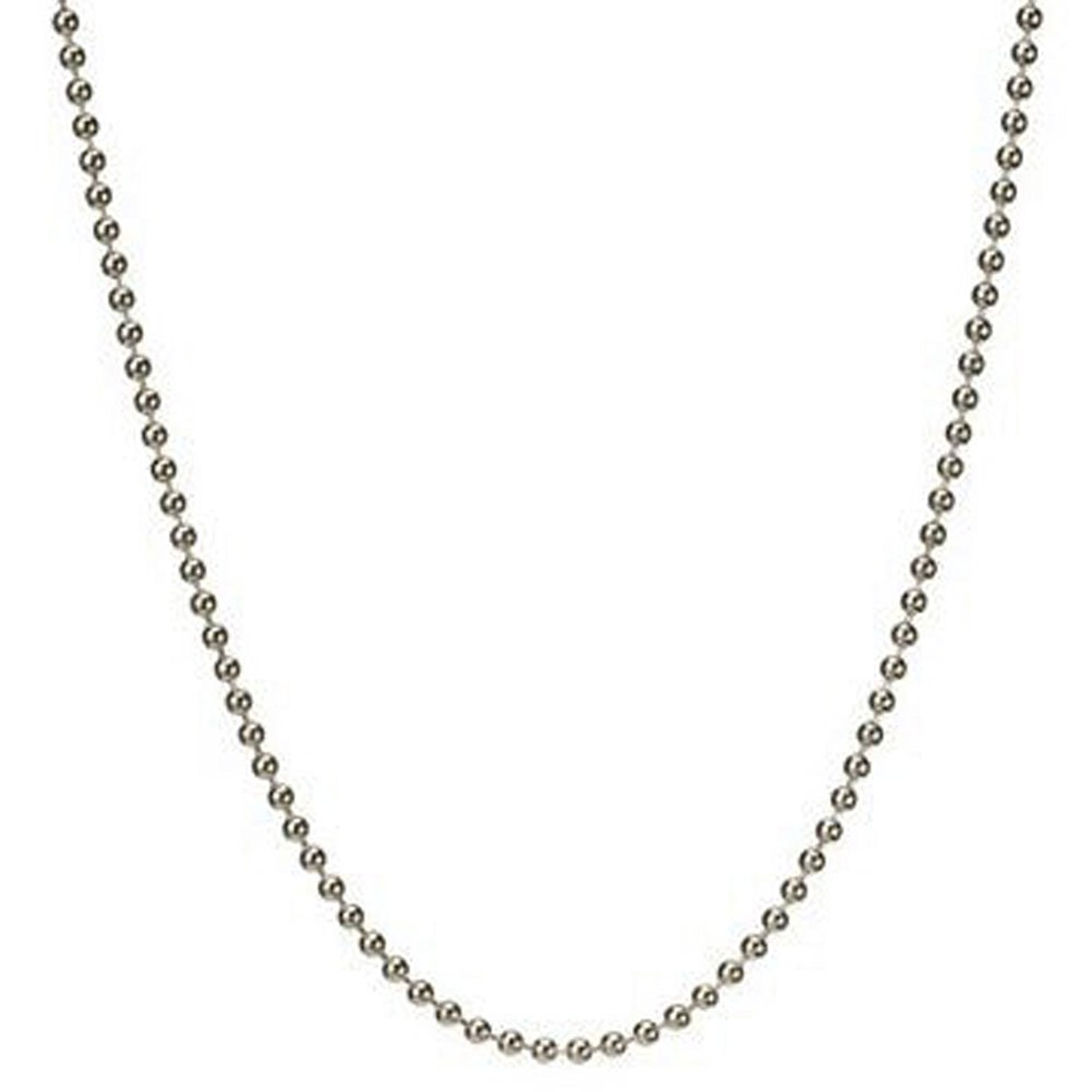 """1.5mm Solid Round Link Ball Beaded Chain Necklace & Bracelet Italian .925 Sterling Silver 7"""", 8"""", 14"""", 16"""", 18"""", 20"""", 22"""", 24"""", 26"""", 30"""", 36"""" inches - 150 Gauge (Nickel Free)"""