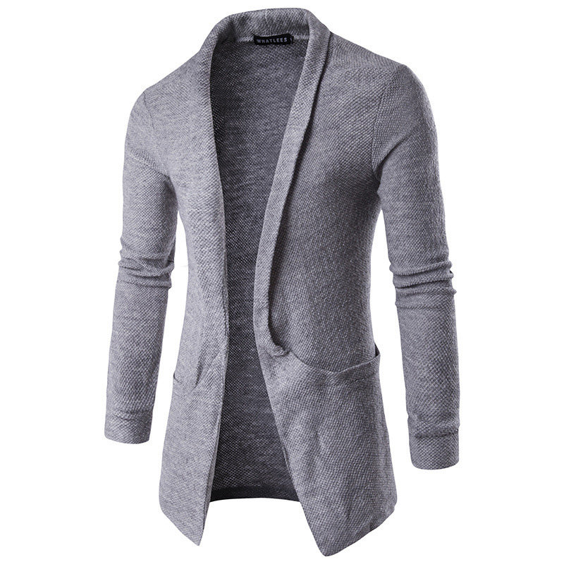 Mens cashmere wool blend long shawl collar cozy fitted funky fall cape cardigan sweater mens