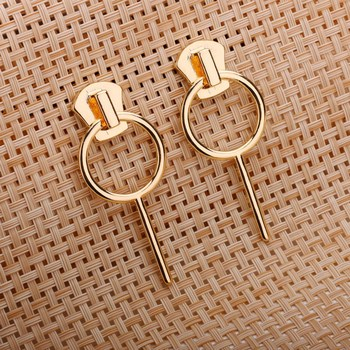 Latest Women Gold Simple Round Earring Design Your Own Factory China