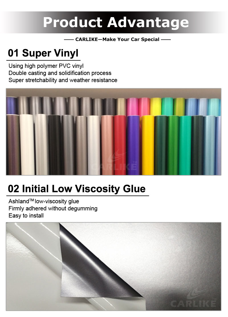 CARLIKE Wrap New Colors White Iridescence Laser Wrapping For Car