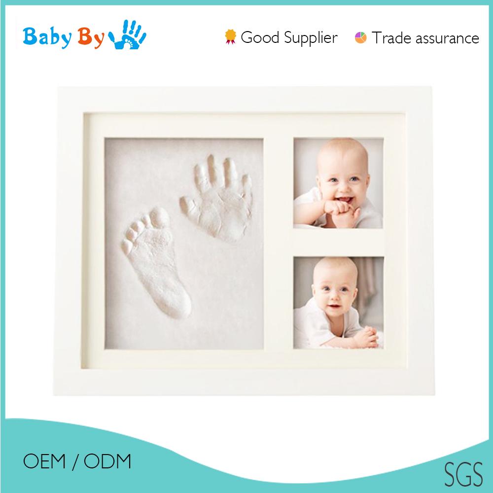 Großhandel weiß baby handabdruck & footprint rahmen foto bild mit ...