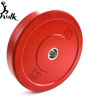 25 kg red weightlifting/crossfit gym equipment rubber bumper plates