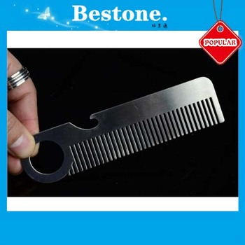 Stainless Metal Lice Comb With Bottle Opener