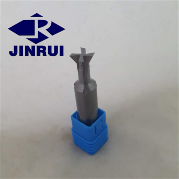 Customized T-slot end mill/tungsten carbide 4 teeth dovetail milling