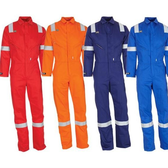 FR rated fire retardant coveralls jump suit with high visibility reflective tape - KingCare | KingCare.net