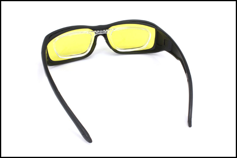 2a296d31bb Panlees Clip on RX Insert Fit Over Glasses Sunglasses LensCovers Wear Over  Sunglasses For Men Night