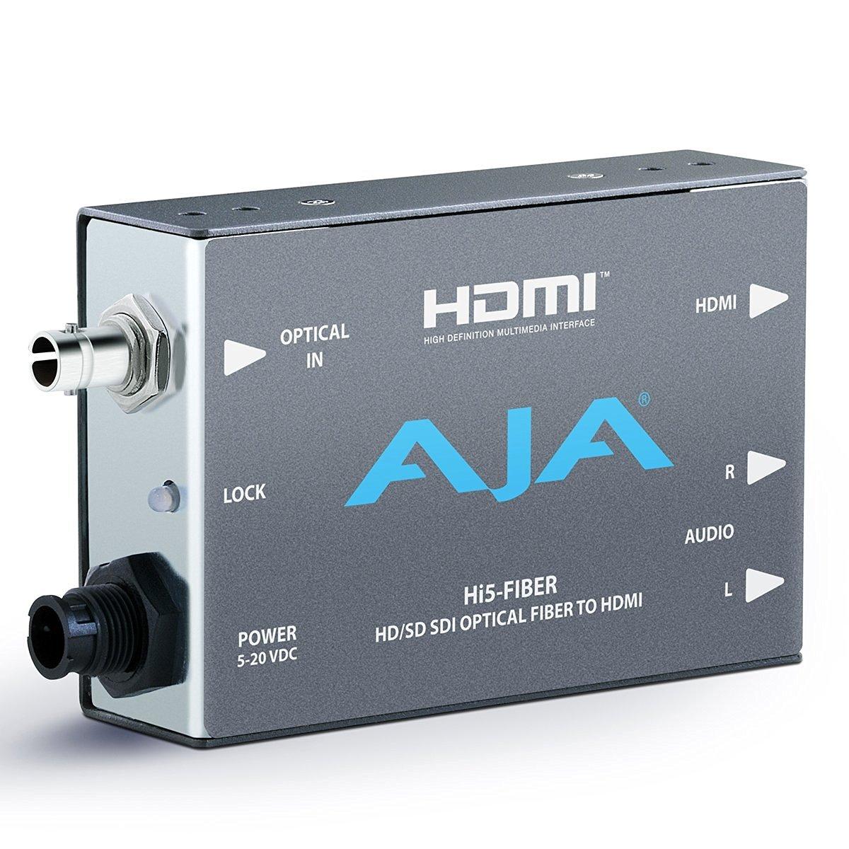 AJA Hi5-Fiber Hi5 with ST Fiber Input (SD/HD/3G SDI protocol on Fiber)