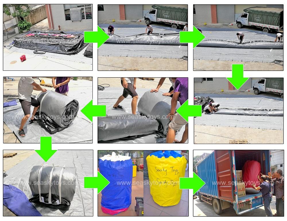 Gonfiabile di sport air bag di salto prodezza di sci gonfiabile di salto sacchetto