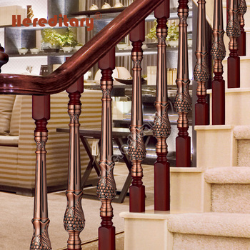 Prefabricated Outdoor Wooden Stair Railing Handrails ...