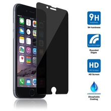 Factory supply good price 0.33mm HD privacy anti glare film glass screen protector for iphone 7/7 PLUS