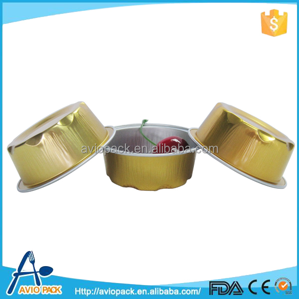 Round aluminium foil baking egg tart mold cup with lid