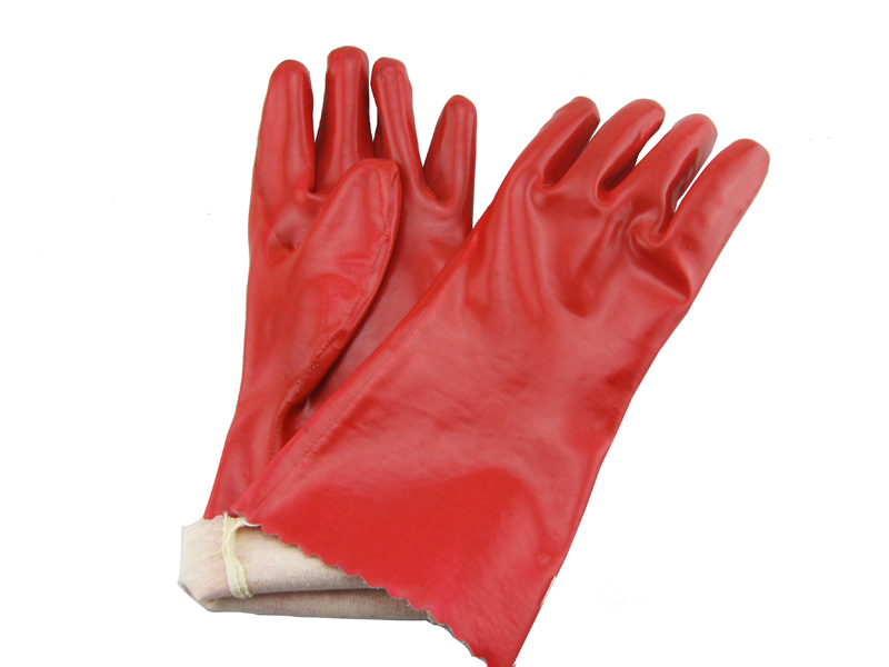Pvc Gloves Cheap Red Pvc Coated Gauntlet Gloves 13