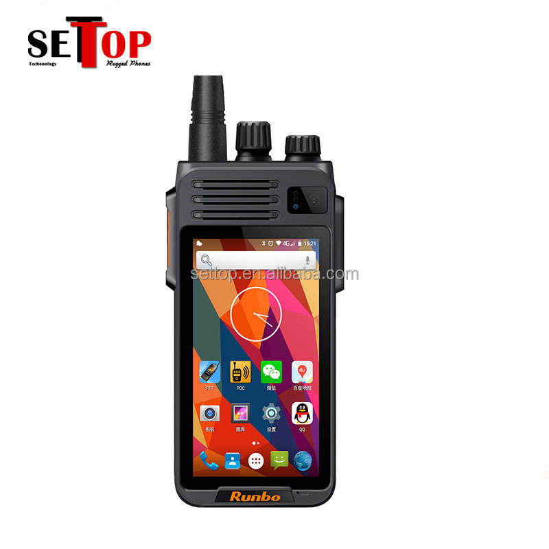 Quad Core Android 6.0 IP67 Étanche 4G LTE Smartphone Robuste 4W UHF VHF Talkie-walkie Téléphone