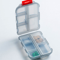 Portable Plastic Large Capacity Pill Box for medicine hinged plastic pill box