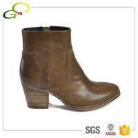 217-1 Winter good quality leather women shoes high heel ankle boot