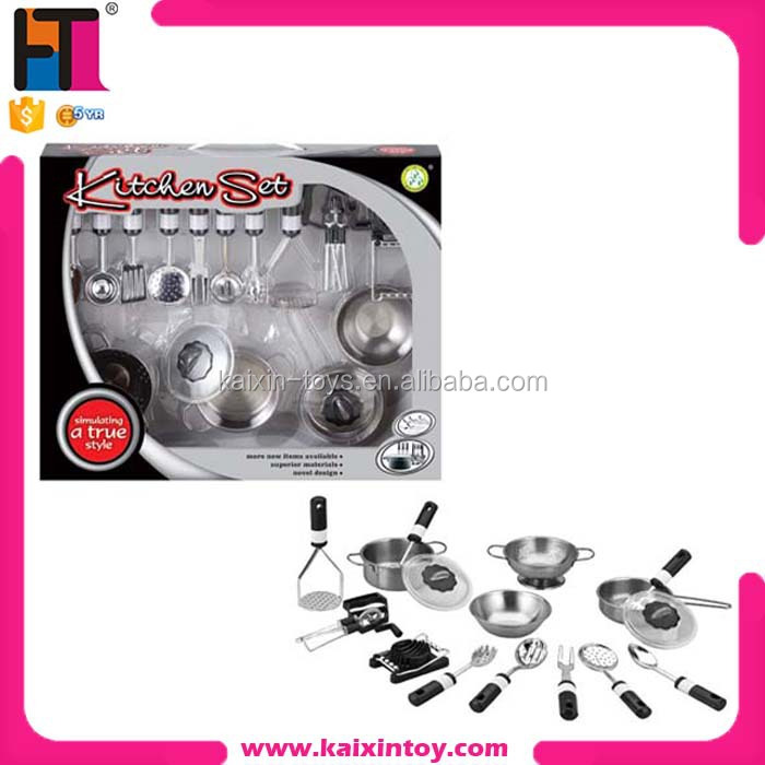 Best Selling Play Toy Stainless Steel Kitchen Toys Set Buy