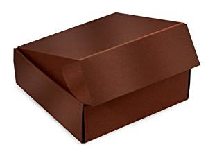 "Decorative Shipping Boxes - Chocolate Gourmet Shipping Boxes 8x8x3"" Auto Lock Boxes - (6 Per Pack) - WRAPS - 51CH"