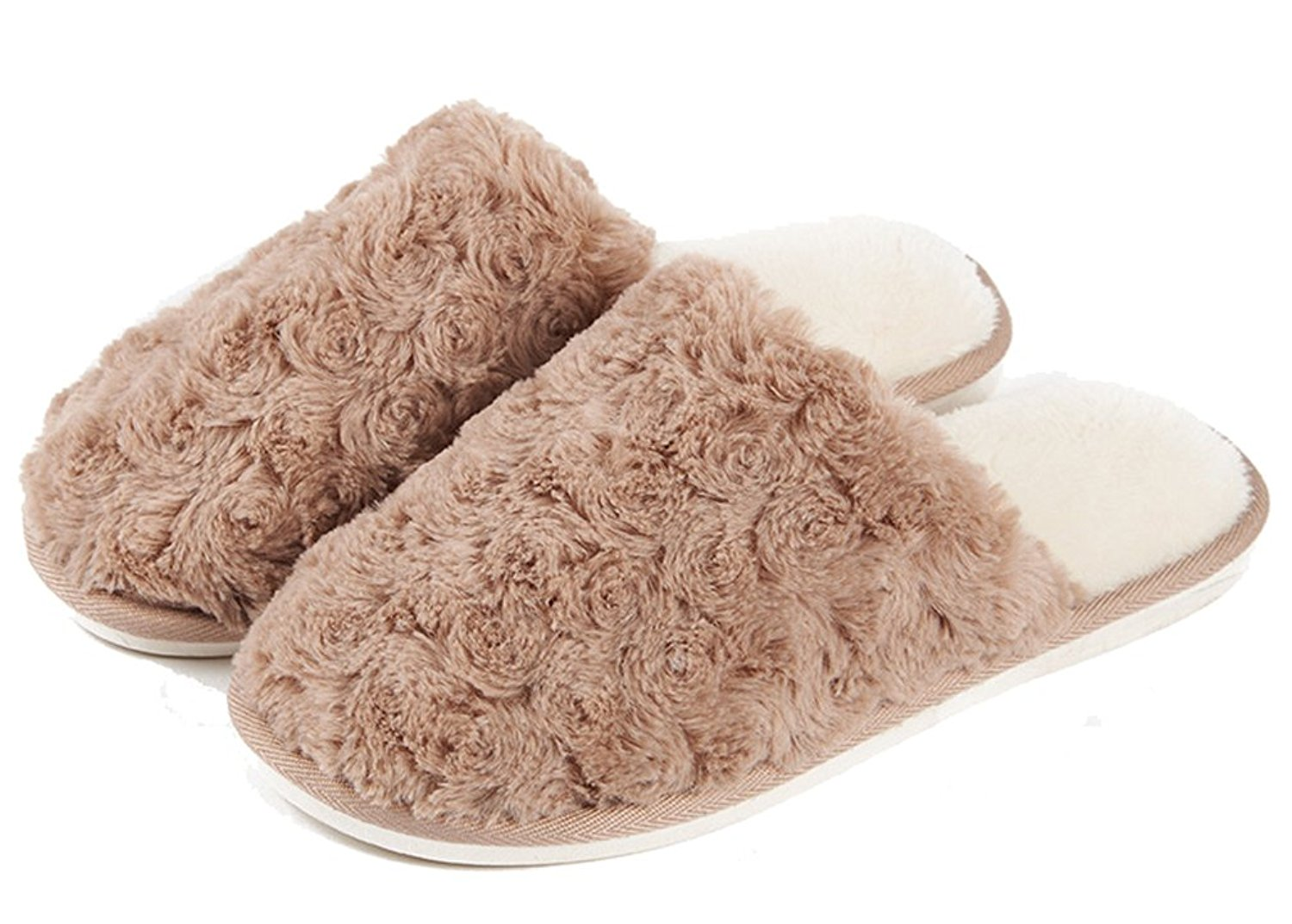 0f6be83bac68 Get Quotations · Cattior Mens Warm House Indoor Slippers Fluffy Slippers