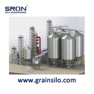 Rice Husk Hopper Bottom Storage Steel Silo, Customized 30-15000ton Silo
